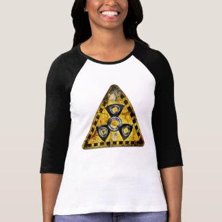 Camiseta Triângulo de advertência da radiação nuclear do