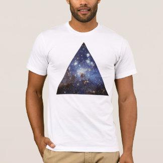 Camiseta triângulo do espaço do hipster
