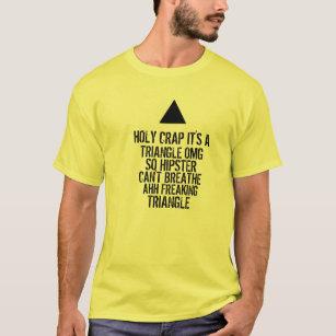 Camiseta Triângulo do hipster de OMG