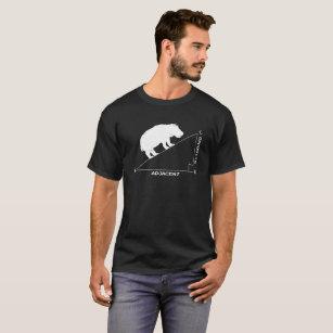 Camiseta triângulo engraçado do hipopótamo da matemática do