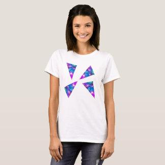 Camiseta Triângulos cor-de-rosa da galáxia