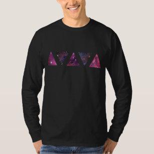 Camiseta Triângulos do espaço (T longo da luva)