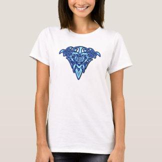 Camiseta Tribal/céltico Tatuagem-como o coração azul de