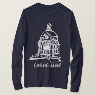 Camiseta Tribunal velho de Evansville Indiana