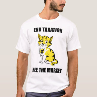 Camiseta Tributação do fim - livre o mercado - T de AnCap