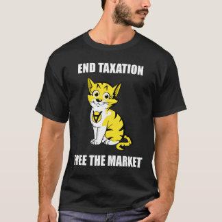 Camiseta Tributação do fim - livre o texto branco AnCap T