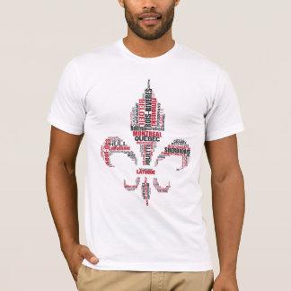 Camiseta Tributo francês de Quebeque do canadense