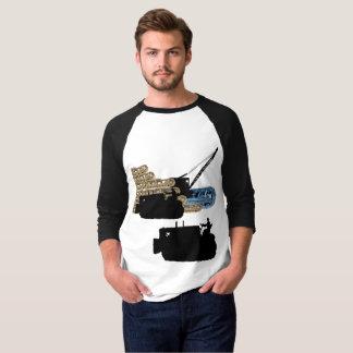 Camiseta Trilhas de funcionamento da escavadora do operador