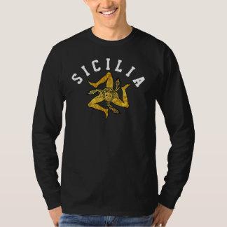 Camiseta Trinacria siciliano no ouro personaliza