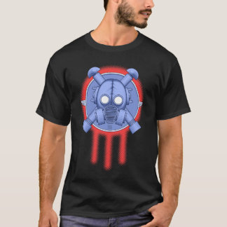 Camiseta trindade do gasmask do art deco