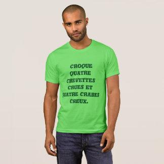 Camiseta Trinque quatro camarões crus