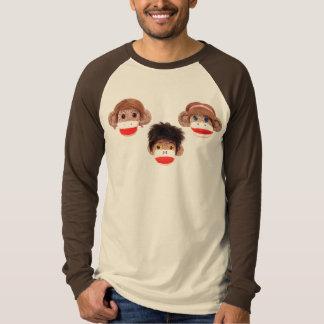 Camiseta trio pequeno insolente de 3 macacos