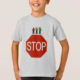 Camiseta Trio temperamental do sinal de trânsito no sinal