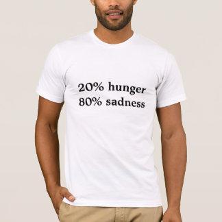 Camiseta tristeza da fome 80% de 20%