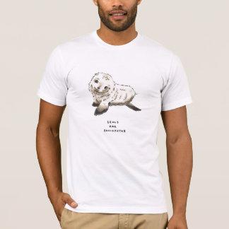 Camiseta trivialidade do selo