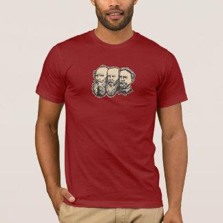 """Camiseta """"troikca"""" do russo: Tolstoy, Dostoevsky, Chekhov"""