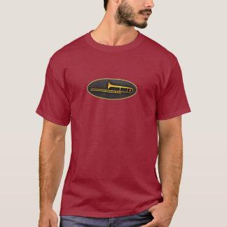 Camiseta Trombone oval dourado