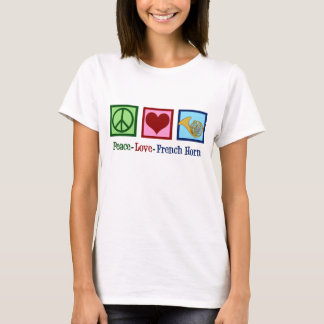 Camiseta Trompa francesa do amor da paz