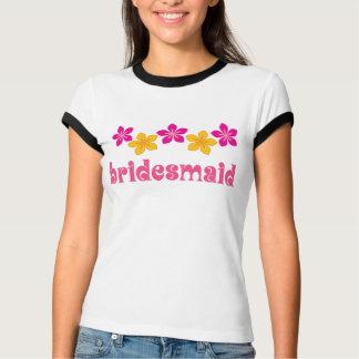 Camiseta tropical havaiana das flores da dama de