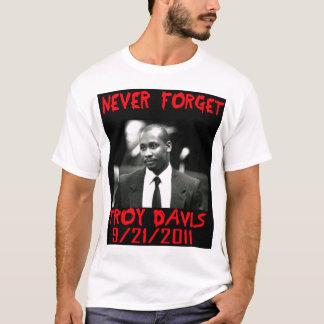 Camiseta Troy Davis, nunca esquece -- T-shirt