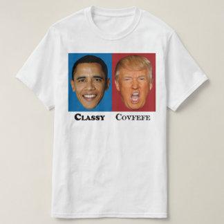Camiseta Trunfo elegante Covfefe de Obama - anti trunfo