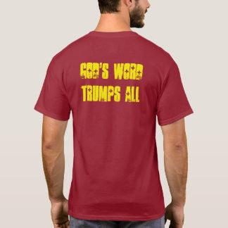 """Camiseta Trunfos da palavra sinais do """"deus bíblico TODO O"""""""