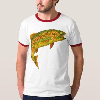 Camiseta Truta de arco-íris 2 da folha de Aspen
