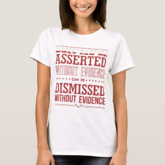 Camiseta Ts da luz da lâmina de Hitchens