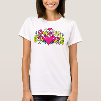 Camiseta tshirt 16 do doce dezesseis