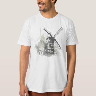 Camiseta Tshirt afligido vintage do moinho da roda de vento