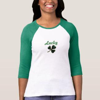 Camiseta Tshirt afortunado do Raglan