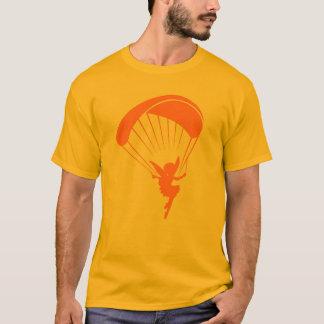 Camiseta Tshirt alaranjado do duende do parapente