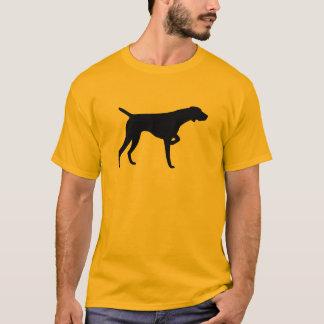 Camiseta Tshirt alemão do ponteiro de cabelos curtos