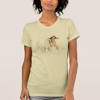 """Camiseta TShirt árabe dos cavalos - """"dois amigos a Turquia"""