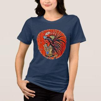 Camiseta TShirt asteca do nativo americano do dançarino do