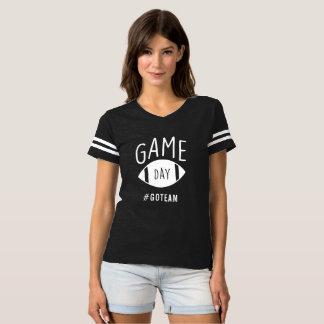 Camiseta Tshirt atlético de domingo do futebol listrado do