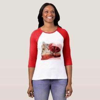 Camiseta Tshirt bonito do gato de gato malhado