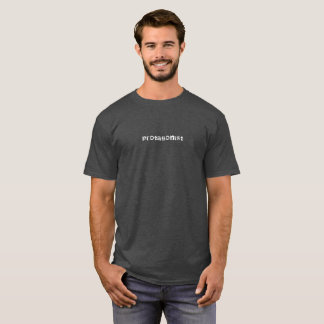Camiseta Tshirt branco do texto do protagonista