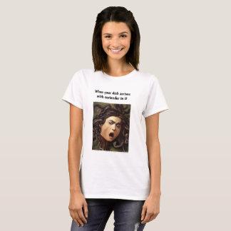 """Camiseta Tshirt clássico das senhoras do """"coentro"""" da arte"""