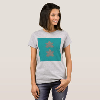 Camiseta Tshirt com os lotuses cianos