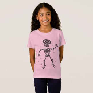 Camiseta Tshirt COR-DE-ROSA com esqueleto