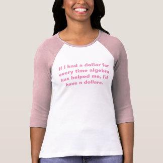 Camiseta Tshirt da álgebra da matemática