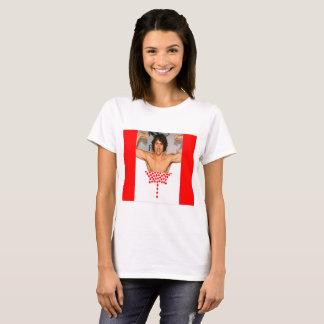 Camiseta Tshirt da bandeira de Justin Trudeau Canadá