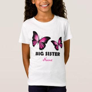 Camiseta Tshirt da borboleta da irmã mais velha
