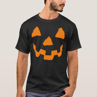 Camiseta Tshirt da cara da abóbora do Dia das Bruxas
