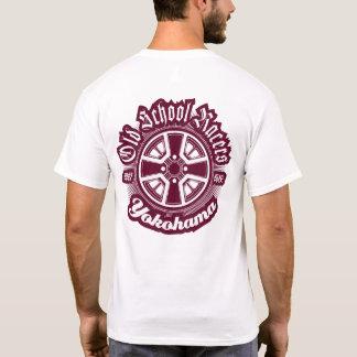 Camiseta Tshirt da cena do carro dos pilotos JDM da velha