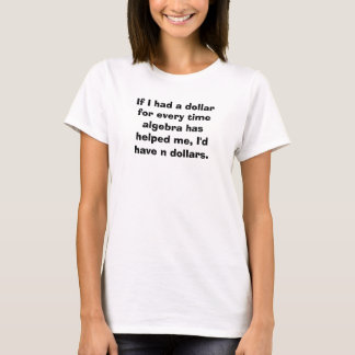 Camiseta Tshirt da chalaça da equação da álgebra do