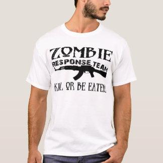 Camiseta Tshirt da faculdade da equipe da resposta do zombi