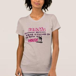 Camiseta tshirt da ginástica do feixe/assoalho