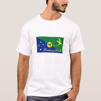 Camiseta Tshirt da lembrança da bandeira da ilha christmas
